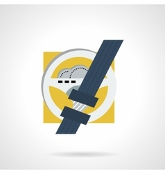 Driver safety flat icon vector