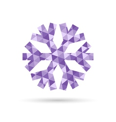 Snowflake new year and christmas icon of purple vector
