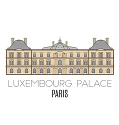 Luxembourg palace paris vector