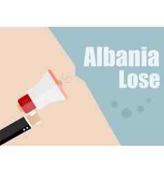 Albania lose flat design business vector