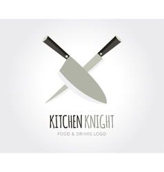 Abstract knife logo template for branding vector