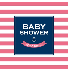 baby shower girl vector image