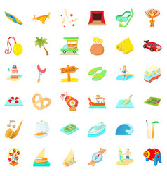 Barbecue icons set cartoon style vector