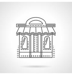 Book shop facade flat line icon vector image