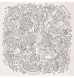 Cartoon cute doodles hand drawn handmade vector