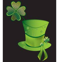 clover hat vector image vector image