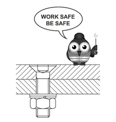 Construction work safe vector image vector image