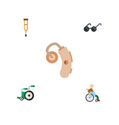 Flat icon handicapped set of spectacles equipment vector