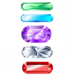 jewels vector image