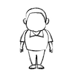 Man character people standing cartoon vector