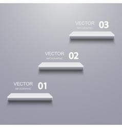 Modern shelf infographic background vector
