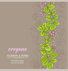 oregano background vector image