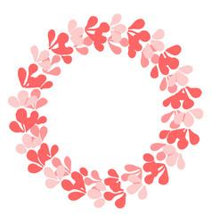 Pastel laurel wreath decorative frame on white vector