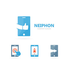 Phone and like logo combination mobile vector