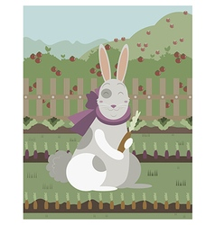 Rabbit with a carrot vector