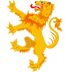 rampant lion - the heraldic symbol vector image vector image