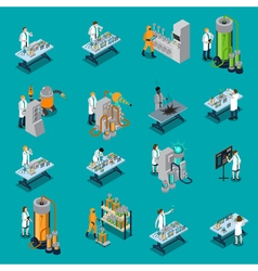 Scientist icons set vector