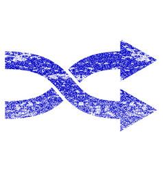 Shuffle arrows right grunge textured icon vector