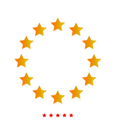 Stars in circle it is icon vector