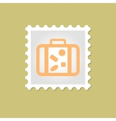 Suitcase stamp vector image vector image