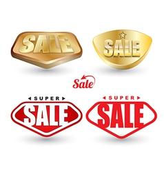 Super SALE tag set vector image