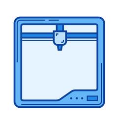 three d printer line icon vector image