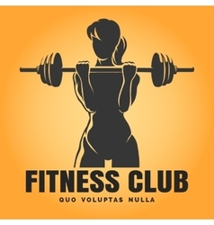 Training Woman Fitness Club emblem vector image vector image