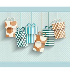 Vintage retro happy birthday card vector image vector image