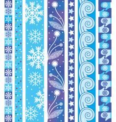 winter design border vector image vector image