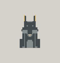 Wolf pixel graphic vector