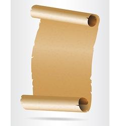 Old blank paper script vector