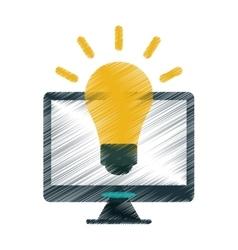Drawing technology device idea creative vector