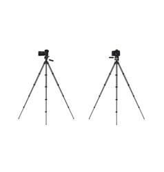 Photo camera on tripod vector