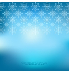 Winter snowflakes ornate blue background vector