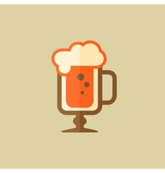 Cappuccino drink flat icon vector