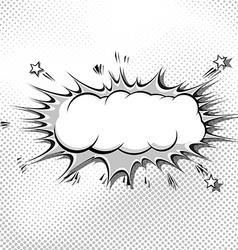 Retro pop-art comic book style grey explosion vector image