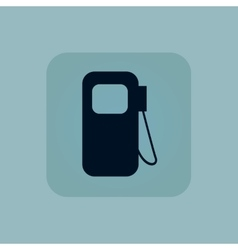 Pale blue gas station icon vector