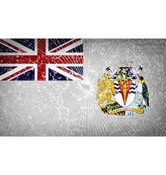 Flags british antarctic territory with broken vector