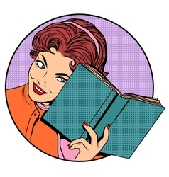 Woman with a book vector