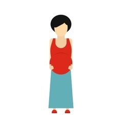 Pregnant woman icon vector
