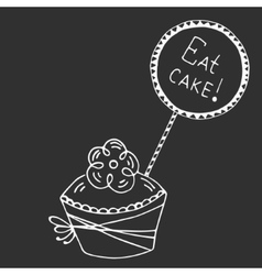 Hand drawn quote - eat cake vector