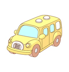 A view of school bus vector image