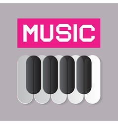 Abstract Music Theme with Piano Keyboard vector image vector image