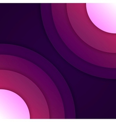 Abstract purple round shapes background vector image vector image