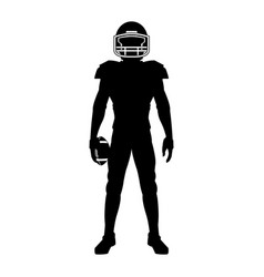 american football player uniform helmet ball vector image vector image