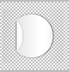 blank round sticky paper sheet with curl age vector image