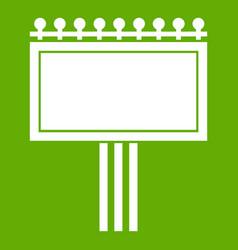 board for statistics icon green vector image vector image
