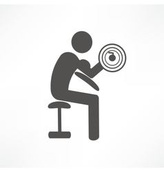 bodybuilder icon vector image