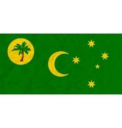 Cocos Islands paper flag vector image vector image