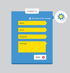 Contact Form 5 vector image vector image